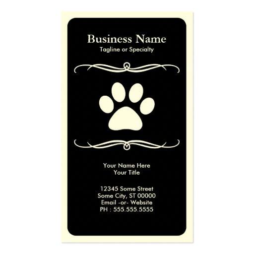 mod pet paw business card