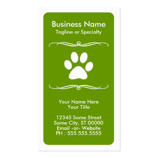 mod pet paw loyalty card business card templates