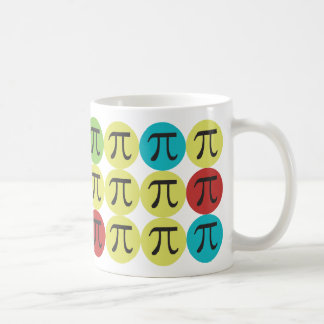 Mod Pi  - Colorful Pi Gift Basic White Mug