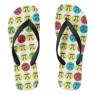 Mod Pi Flip Flops Pi Symbols Colorful Pi Day Gift