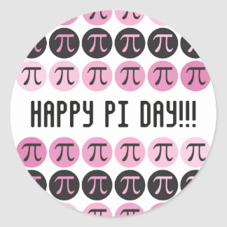 Mod Pi  - Pink Pi Classic Round Sticker