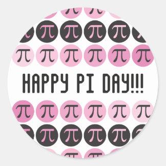 Mod Pi  - Pink Pi Round Sticker