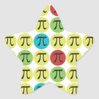 Mod Pi Symbol Stickers - Fun Pi Gift