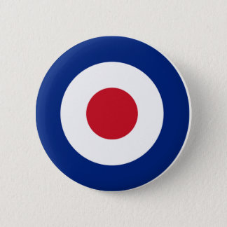 MOD Pinback Button Blue Red and White