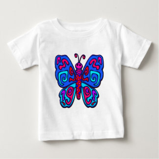 Mod Pink and Blue Butterfly Tees