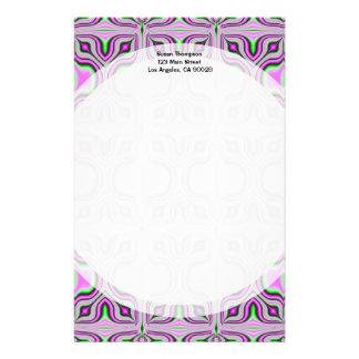 Mod Pink Mauve Pattern Personalized Stationery