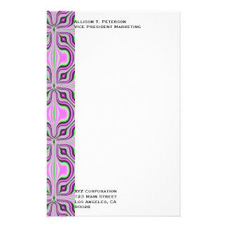 Mod pink mauve pattern stationery