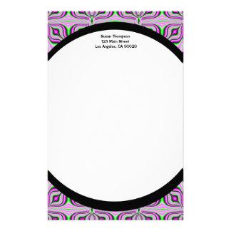 Mod Pink Mauve Pattern Stationery Paper