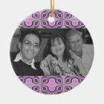 Mod pink photoframe christmas tree ornaments