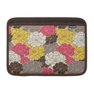Mod Pink Yellow Brown flowers MacBook Air Sleeve