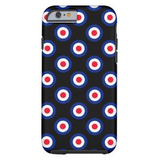 Mod Polka Dots Roundel Pattern Tough iPhone 6 Case