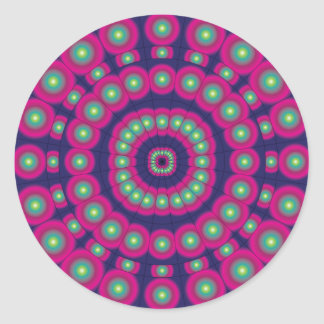 Mod Psychedelic Spheres Dartboard Round Sticker