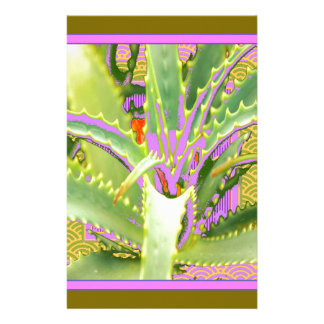 Mod Purple-Pink-Green Agave Gifts Personalized Stationery