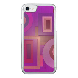 Mod purple squares circles carved iPhone 8/7 case