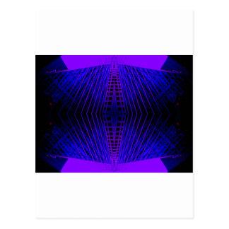 Mod Purple Urban Futurism cricketdiane Postcard