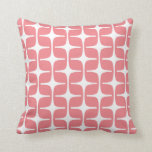 Mod Rectangles Pattern Coral Cushion