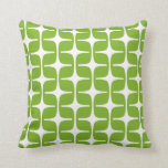 Mod Rectangles Pattern Lime Cushion