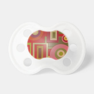 mod red shapes baby pacifiers