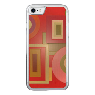 Mod Red Squares Circles Carved iPhone 8/7 Case