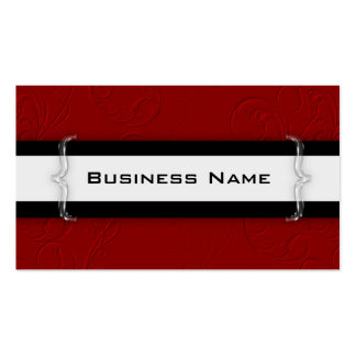 Mod Red White Black Acrylic Design Business Card
