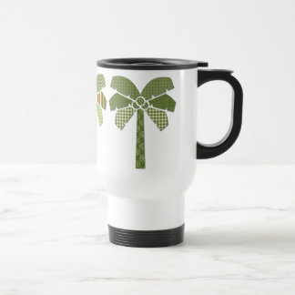 Mod Retro Abstract Patchwork Palm Trees Stainless Steel Travel Mug