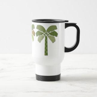 Mod Retro Abstract Patchwork Palm Trees Travel Mug