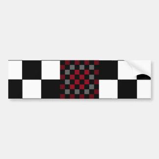 Mod Retro Hipster Checkerboard Bumper Sticker