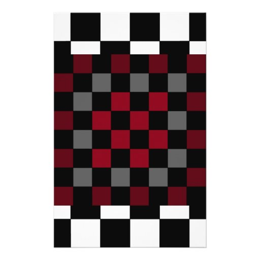 Mod Retro Hipster Checkerboard Full Color Flyer