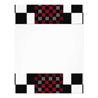 Mod Retro Hipster Checkerboard Flyer