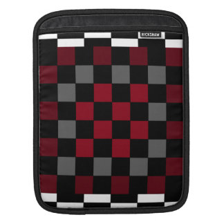 Mod Retro Hipster Checkerboard Sleeves For iPads
