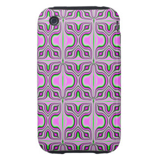 mod retro pink pattern iPhone 3 tough cover