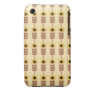 Mod Retro Sunflowers iPhone 3 Case-Mate Cases