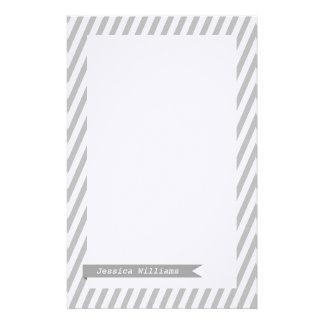 Mod Ribbon & Stripes Stationery Paper