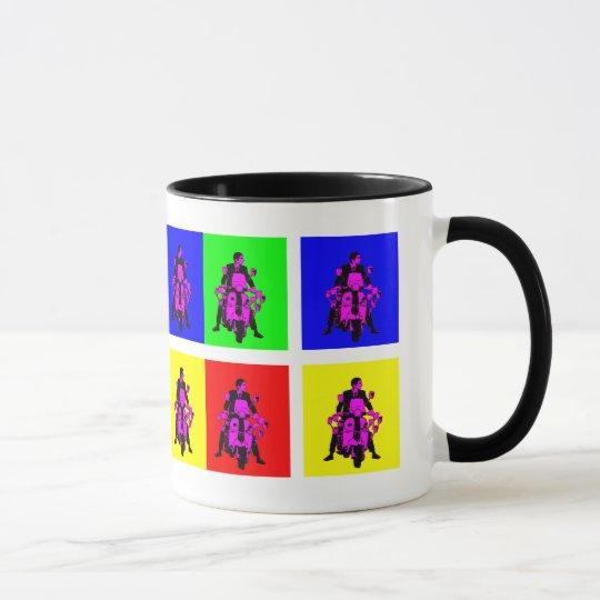 Mod Rider Pop Art Mug