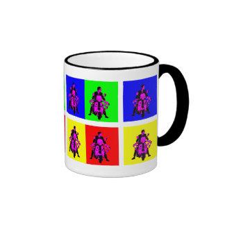 Mod Rider  Pop Art Ringer Mug