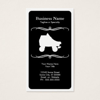 mod roller skate business card