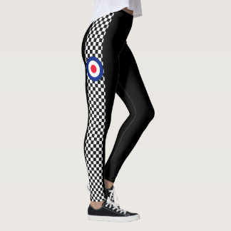 Mod Roundel Scooter Style Checkers Decor on Leggings