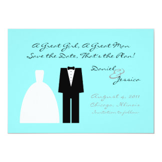 Mod Save the Date 13 Cm X 18 Cm Invitation Card