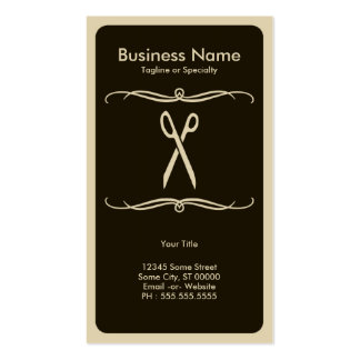 mod scissors pack of standard business cards