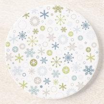 Mod Snowflakes Coaster