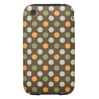 Mod Spots Green-Orange-Browns iPhone 3G/3GS Case Tough iPhone 3 Cover