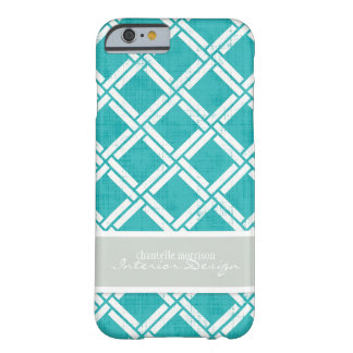 Mod Square Diagonal Trellis Pattern Personalized Barely There iPhone 6 Case