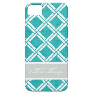 Mod Square Diagonal Trellis Pattern Personalized iPhone 5 Case