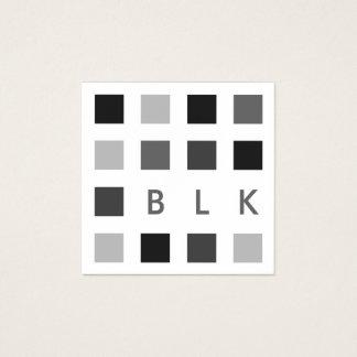 mod squares square business card