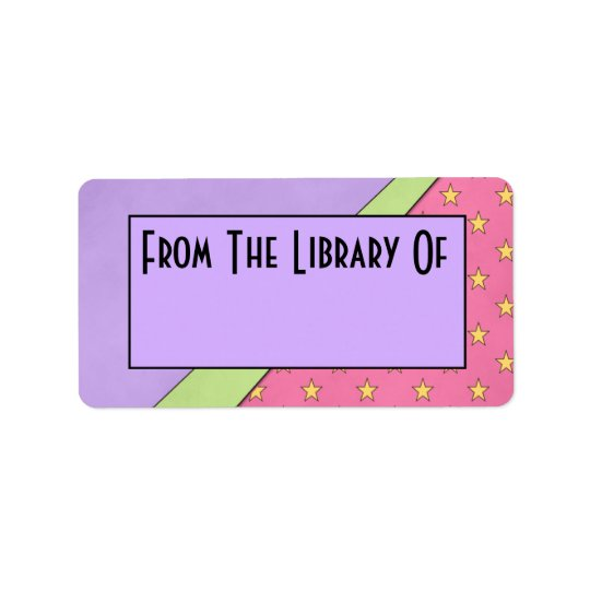 Mod Style Reading Library Of Bookplate Gift Address Label