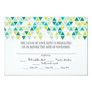 Mod Style Triangle Pattern Triangular Geometric 9 Cm X 13 Cm Invitation Card