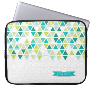 Mod Style Triangle Pattern Triangular Geometric Laptop Sleeves