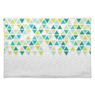 Mod Style Triangle Pattern Triangular Geometric Placemats