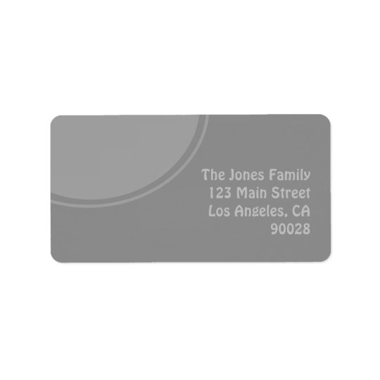 Mod stylish grey design label