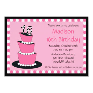 Mod Sweet Sixteen Birthday Party Invitation